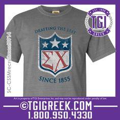 TGI Greek - Sigma Chi - Fraternity Recruitment #tgigreek #sigmachidesigns  #comfortcolors