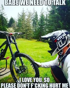 Sometimes people taking part in specific disciplines of cycling will purchase a specialized mtb, developed for the discipline. While cross-country, freerider and enduro are the most common discipli… Bike Quotes, Cycling Quotes, Cycling Memes, Bike Humor, Mt Bike, Bmx Bicycle, Mountain Biking Quotes, Biker, Cars