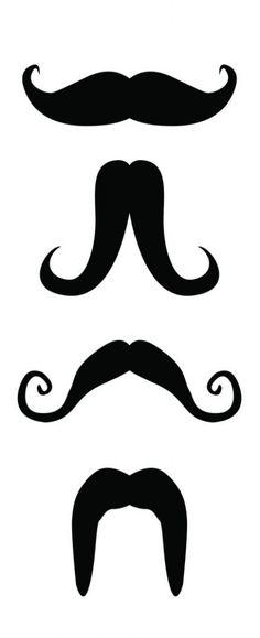 moustache printable