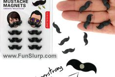 I would put way more pictures of my friends on my fridge just to use these magnetic mustaches