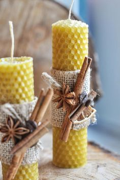 Items similar to Beeswax Candles Hand Rolled Pure Beeswax Home Decor Wax Candles Home Sweet Decoration Giftforbirthday Christmas Natural Candles Table Decor on Etsy Diy Candles Scented, Homemade Candles, Beeswax Candles, Christmas Crafts To Sell, Christmas Tree Themes, Christmas Candles, Diy Candles Video, Rope Decor, Candle Making Business
