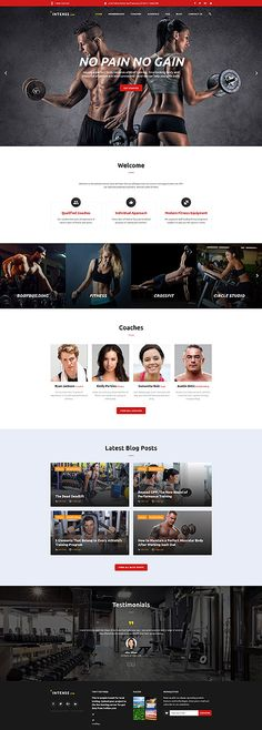 Gym & Fitness #website #template. #themes #business #responsive #websitethemes