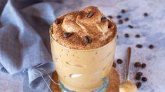Mousse glacée au café à l'italienne - Page 2 à 2 - Ma Pâtisserie Sorbet, Cheesecakes, Nutella, Glass Of Milk, Biscuits, Pudding, Food, Quelque Chose, Paradis