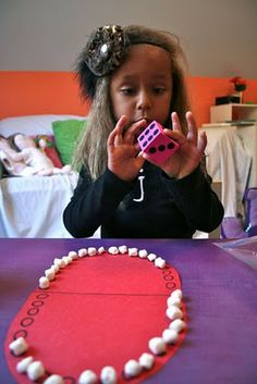 Teeth game!  Can use marshmallows or buttons or squares of white paper