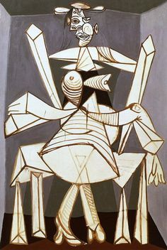"""Pablo Picasso - """"Woman sitting in an armchair (Dora)"""". 1938"""