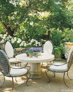 Ginny Magher.  The Atlanta-based designer's Provence farmhouse. Veranda, Seotember 2007.