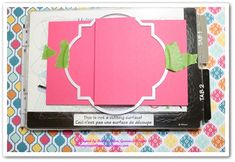 cardmaking photo tutorial: Gate Fold Card using framelits to shape the card ... fab look ...
