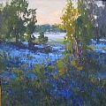 Blue Meadow by LaNell Arndt Oil ~ 30 x 30