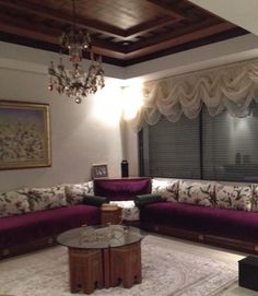 Living Room Designs, Living Room Decor, Arabic Decor, Corner Furniture, Interior Decorating, Interior Design, Curtain Designs, Moroccan Decor, Drawing Room