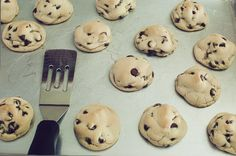 Puffy chocolate chips cookies. These worked out perfectly