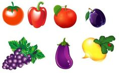 Láminas para imprimir y plastificar. Son muy buenas para jugar a recolectar/comprar fruta. Además podemos clasificar las frutas y verduras por colores. Mírame y aprenderás en Facebook Otro juego pa…