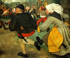 Bruegel the Elder, Peasant Dance (detail 2).
