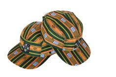 cewax.fr aime cette casquette en tissu africain wax style ethnique afro tendance tribale african print ankara vert jaune 100% coton par KitokoWax