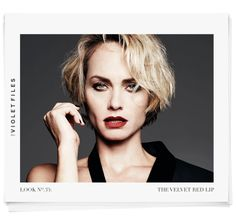 Makeup artist Rachel Goodwin concocts a Winona-inspired red lip for Amber Valletta.  Photography By NAJ JAMAI Hair By TEDDY CHARLES Styled By WILLIAM GRAPER Edited By CHRISTINA HAN Makeup By RACHEL GOODWIN Nails By KAREN GUTIERREZ THE ARTIST: Rachel Goodwin | @rachel_goodwin THE INSPIRATION: Winona Ryder