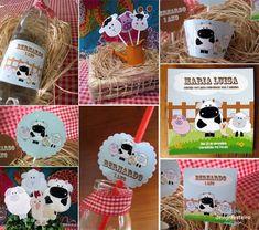 Kit Festa Personalizada Fazendinha. Vendemos os produtos separadamente também!