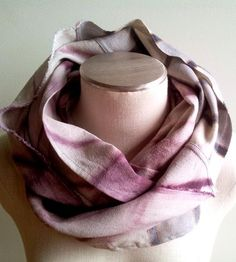 Burgundy & Plaid Hand-Dyed Infinity Scarf by Indigo & Snow on Scoutmob Shoppe
