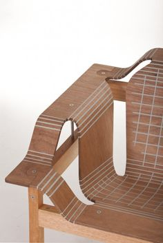 Stratflex furniture-The plywood is scored and the gaps filled with flexible polymer, meaning the wood can be b...