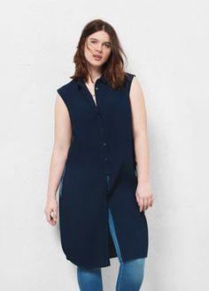 1bff2cf952a Medium denim overshirt - Plus sizes