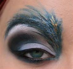 Ash: This is awesome!!!   Feathered eyebrows makeup - this would be awesome for Halloween or a masquerade ball