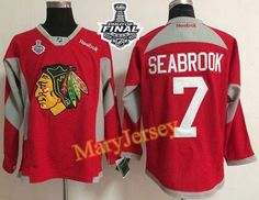 Only $34.88 please email me at maryjerseyelway@gmail.com for Blackhawks 7 Brent Seabrook Red Practice 2015 Stanley Cup Stitched NHL Jersey