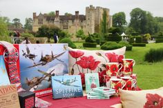 Shop our range or poppies, planes and all things patriotic for Hever's Home Front. Contact us to order via our postal service 01732 861712 | #shop #hevercastle #castle #wartime