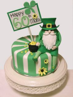 st.patrick cakes   Birthday cake with St. Patricks day theme.PNG