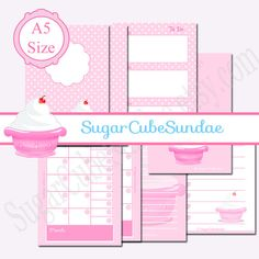 super cute printable filofax inserts