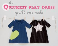 The QUICKEST Toddler Play Dress...you'll ever make! INCLUDES HOW TO DO APPLIQUE!
