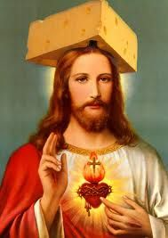 Cheesehead Jesus. Is this offensive or the coolest thing ever?
