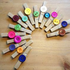 Recycled Hand decorated pegs [ethical kidz]