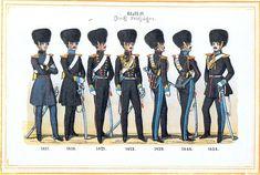 Plate 11: Guard Light Cavalry Sqn, 1817-1854 by Leo Ignaz von Stadlinger - Geschichte des württembergischen Kriegswesens - Uniforms of the troops of Württemberg