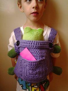 5ff786f921e Crochet Baby Doll Carrier-Mei Tai