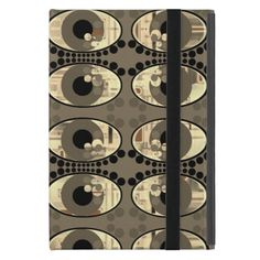 ipad case with a greyish brown eye pattern