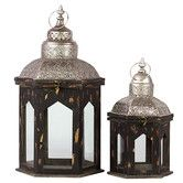 Found it at Wayfair - 2 Piece Persian Wooden Lantern Set