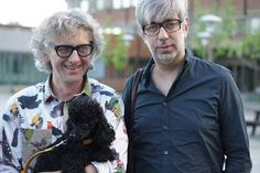 Arne & Carlos with their poodle Freja. OMG! They love poodles too!