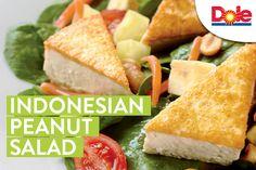 A protein packed delicious salad! Vegan Gluten Free, Vegan Vegetarian, Peanut Dressing, Protein Pack, Serving Plates, Arugula, Tofu, Salad, Cooking