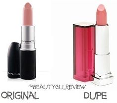 great list of makeup dupes