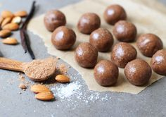 Almond Cacao Balls - The Little Green Spoon