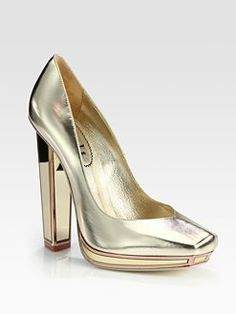 Yves Saint Laurent pumps, I'm choosing shoes for my weddy - thrilled.