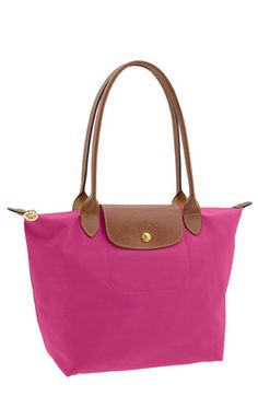 Another color for your collection! Bright pink Longchamp, $125.