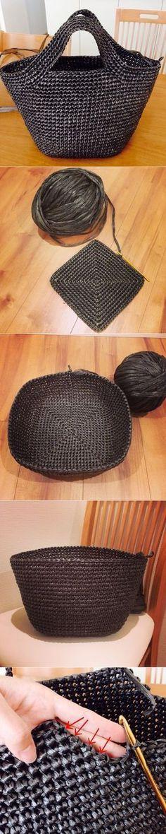 Kindertasche – DIY – DIY: Decoupage, Schmuck, Kunsthandwerk, Volkskunst … – … - DIY and Crafts Crochet Diy, Crochet Tote, Crochet Handbags, Crochet Purses, Crochet Crafts, Crochet Stitches, Crochet Projects, Crochet Summer, Knitting Patterns