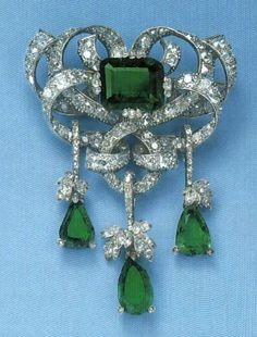 Marie Valerie of Austria's Emerald and Diamond Brooch - (Queen Elisabeth's… http://amzn.to/2tpDPX4