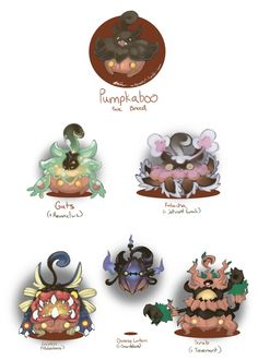 """audgreenart: """" Pumpkaboo Variants: set 3 by AudGreen Like what you see? Commission me!D It rhymed even! Pokemon Human Form, Pokemon Fake, Ghost Pokemon, New Pokemon, Pokemon Sun, Cool Pokemon, Pokemon Fusion Art, Pokemon Fan Art, Pokemon Tumblr"""
