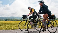 Bicycle tours are a leisure activity in which a person goes touring and sightseeing by making use of a bicycle. It is a non-competitive action performed for relaxation rather than sport. Touring, Places To Visit, Bicycle, Activities, Adventure, Health, Fitness, Vacations, Fun