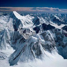 View from the Top of Gasherbrum II (8035 m) to Chogolisa (7665 m) in Karakoramrange captured by Ladislav Kamarad