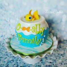 O-Fish-Ally family cake National adoption day @JessieCakesNM