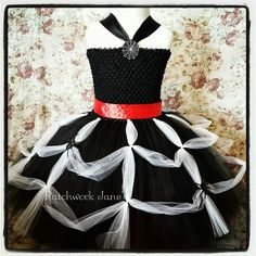 Spider Queen Black Tutu dress - Costume, Halloween, Pageant