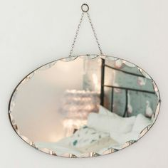 Vintage Oval Frameless Mirror from The Other Duckling. You can t beat a vintage oval frameless mirror for a bit of timeless style. #vintage #mirrors