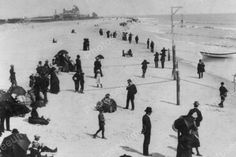 Coney Island By The Sea Scene 1880s 4x6 Reprint Of Old Photo