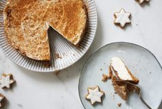 Zimtstern Cheesecake - Ein dish up Rezept Advent, Cheesecake, Bread, Dishes, Ethnic Recipes, Food, Food Cakes, Simple, Christmas